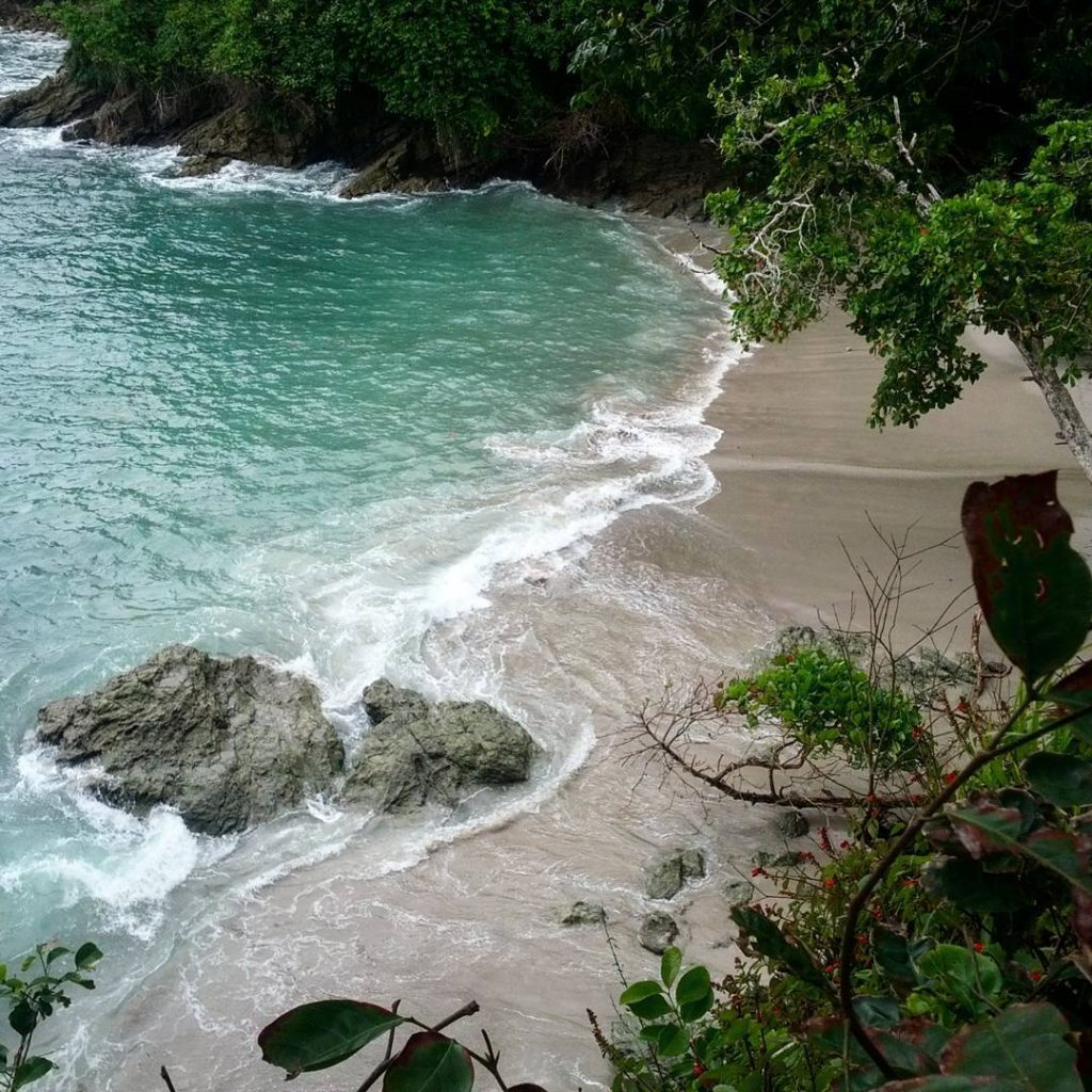 One of the beaches inside Manuel Antonio National Park, photo credit daniel castillo b